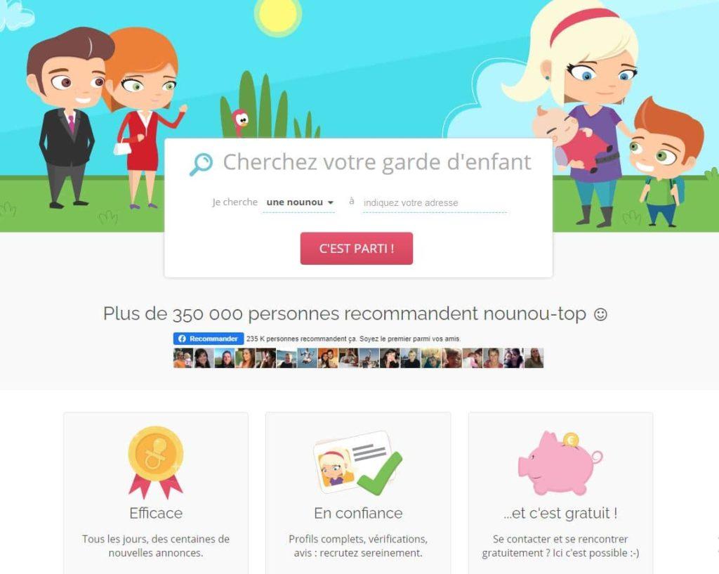 Nounou Top, site de babysitting numéro 1 en France